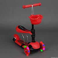 Самокат детский трехколесный с корзинкой (4109А)