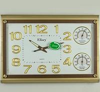 Часы настенные с термометром и гигрометром (45х31х5 см)