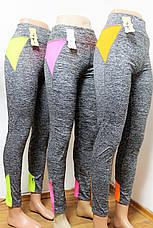 Лосины (легинсы)  женские № 4072 МЕЛАНЖ (уп 12 шт), фото 2