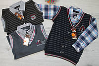 Рубашка-обманка для мальчика Турция р.164,176