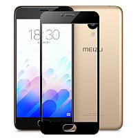 Защитное стекло для Meizu M5 Note 2.5d Черное на весь экран