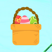 Декор для бизнеса на капри Корзина с пасхальными яйцами  [7 размеров в ассортименте]