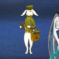 Аплпикации на блузы Пасхальный заяц-почтальон [6 размеров в ассортименте]