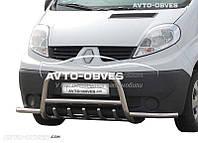 Штатный кенгурятник для Opel Vivaro с дополнительными усами