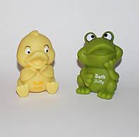 Лягушонок и утенок, резиновые игрушки, флакончики для шампуни