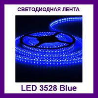 Лента светодиодная синяя LED 3528 Blue 60RW - 5 метров в силиконе