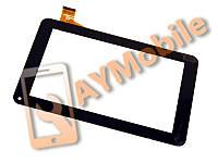 """Сенсор (тачскрин) 7"""" Uni Pad CM-OSP02B-13QC 30 pin 186x111 mm скотч black"""