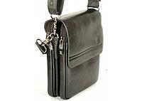 Мужская сумка Bradford 98337-1 маленькая пять отделов искусственная кожа размер 16х21х7см