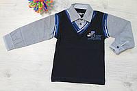 Рубашка-обманка на мальчика для школы Турция р.110