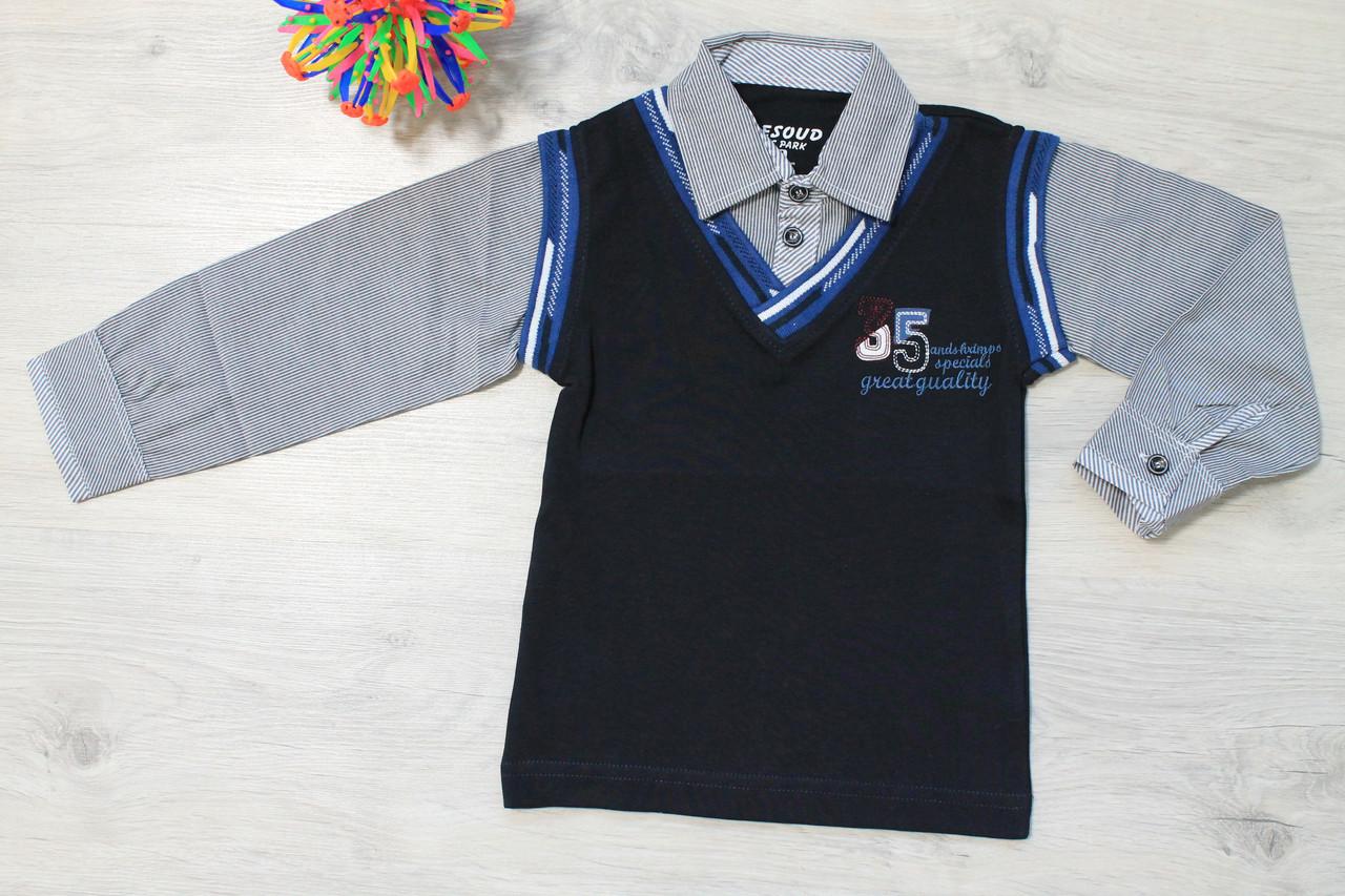 Рубашка-обманка на мальчика для школы Турция р.110 - Style-Baby детский магазин в Киеве
