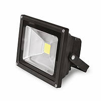 Прожектор светодиодный EUROELECTRIC LED-FL-20(black)  20W 6500K classic
