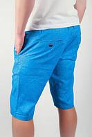 Шорты летние яркие до колена №166KF013 (Голубой)