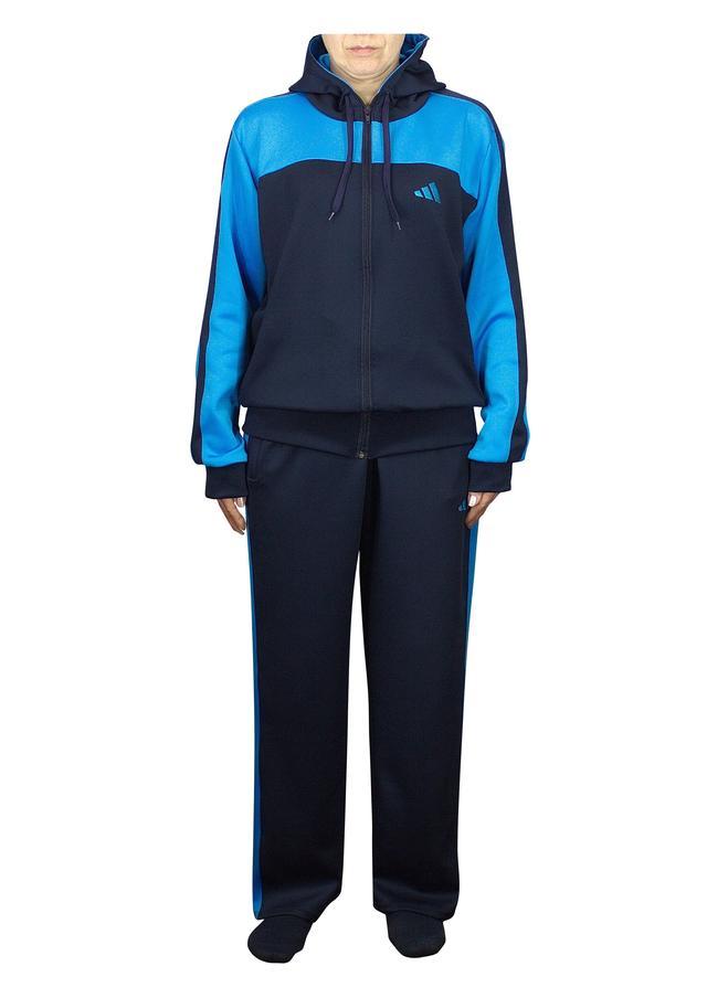 стильный спортивный костюм женский синий с голубым - фото teens.ua
