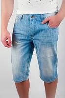 Бриджи джинсовые светлые №166KF006 (Голубой)