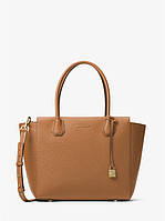 Сумка Michael Kors Mercer Large Leather Satchel Brown 30H6GM9S3L