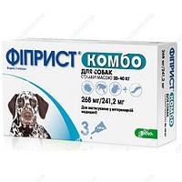 Фиприст Комбо спот-он капли на холку от блох, клещей и власоедов для собак 20-40 кг (1 пипетка)