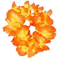Венок на голову гавайский (желто-оранжевый) 140316-100