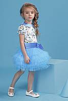 Нарядное платье-комплект для девочки 4048-1/98/голубой в наличии 98 р., также есть: 104,98, Zironka_Дітекс