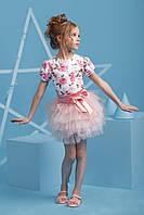 Нарядное платье-комплект для девочки 4049-4/122/розовый в наличии 122 р., также есть: 116,122,128, Zironka_Дітекс