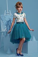 Нарядное платье-комплект для девочки 4051-2/134/бирюзов в наличии 134 р., также есть: 122,128,134, Zironka_Родинний - 3