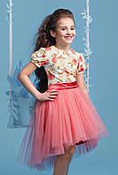 Нарядное платье-комплект для девочки 4052-4/128/озовый в наличии 128 р., также есть: 122,128,134, Zironka_Родинний - 3