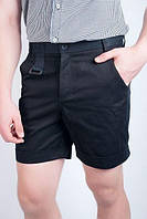 Шорты мужские выше колена с подворотами 1301 (Черный)