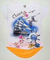 """Модная туника для девочек """"Ocean""""  5,7,9,11,13  лет"""