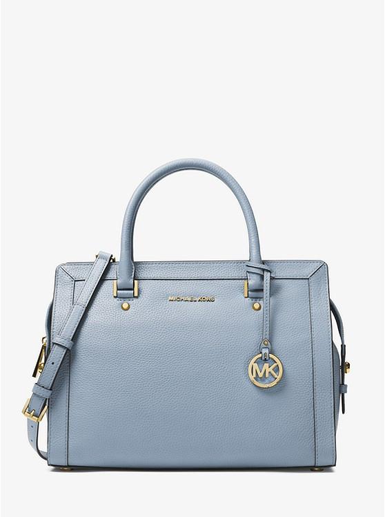 Сумка Michael Kors Collins Large Leather Satchel blue 30S7GIES3L
