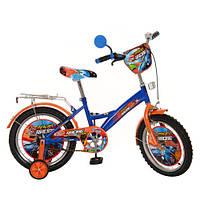 Велосипед  детский двухколесный PROF1 МУЛЬТ 16 дюймов. PR1633 оранжево-синий