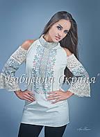 Заготовка Борщівської жіночої сорочки для вишивки нитками/бісером БС-49-2, фото 1