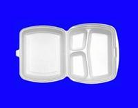 Бокс для обедов из полистирола (3 секции), 250*195*65 (100 шт/ящик)