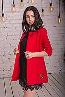 Модный женский пиджак кардиган в расцветках с вышивкой