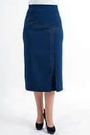 Женская юбка из костюмной стрейчевой ткани
