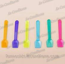 Ложки для десертов разноцветные «GP Plast» (1000 шт.)