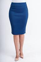 Стильная женская юбка с абстрактым принтом