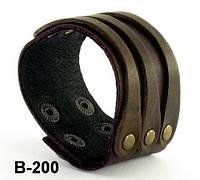 Браслет из натуральной кожи B200
