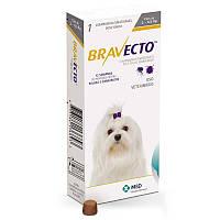Бравекто жевательная таблетка от клещей и блох для собак 2 -4,5 кг