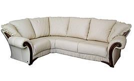 """Стильний шкіряний кутовий диван """"Mayfaer"""" (Майфаер)."""
