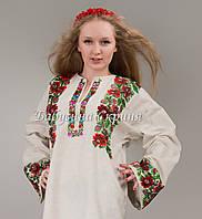 Заготовка Борщівської жіночої сорочки для вишивки нитками бісером БС-50(1)  бежево 2dad4eb32a116