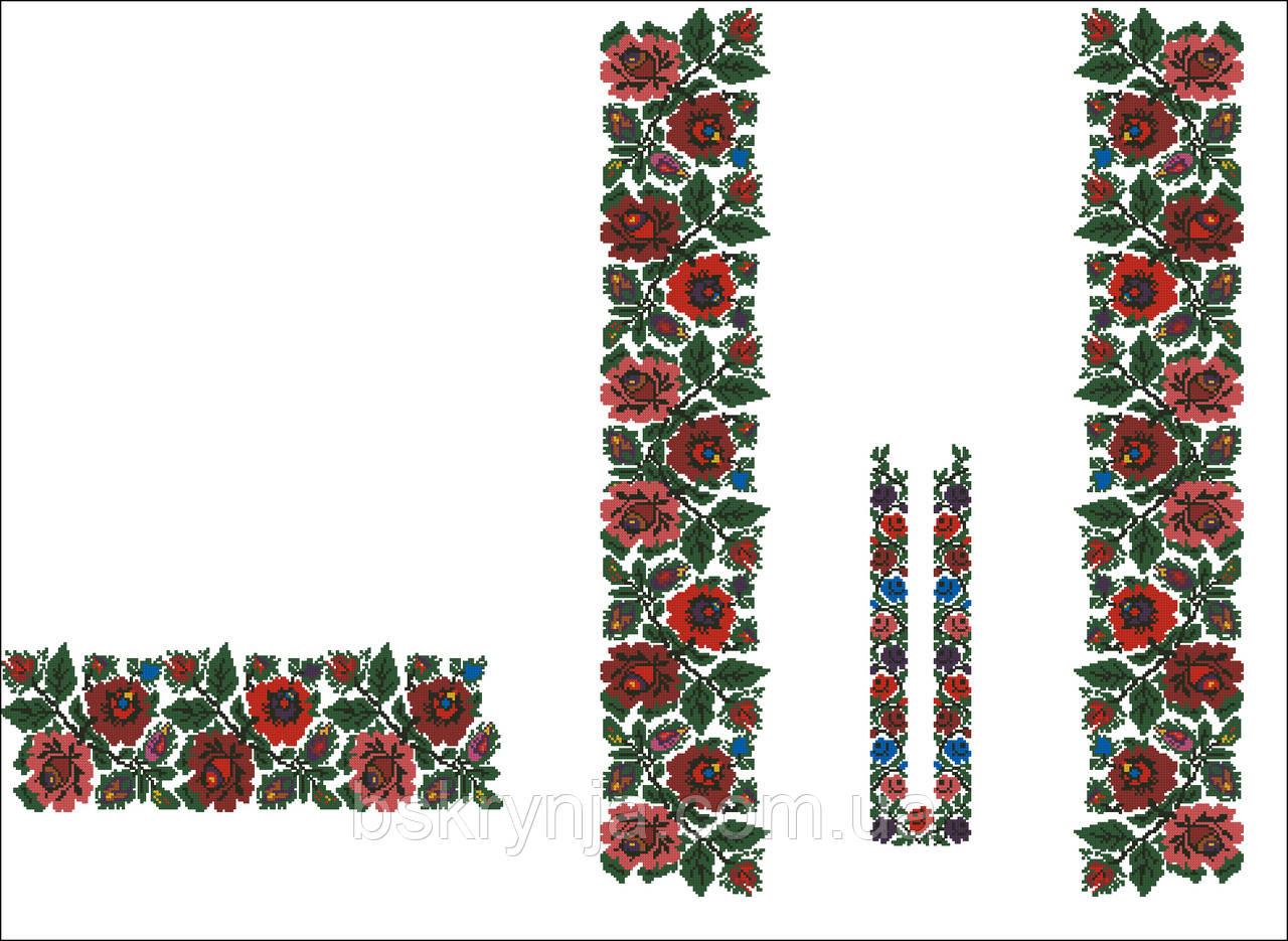 Заготовка Борщівської жіночої сорочки для вишивки нитками бісером БС-50(1) 9259f5cf7f6a4