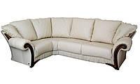 """Стильный кожаный угловой диван """"Mayfaer"""" (Майфаер). 255-255, Ифагрид, натуральная кожа"""