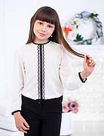Шифоновая школьная блузка