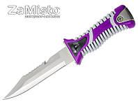 Нож для дайвинга GrandWay SS 35 (фиолетовый)