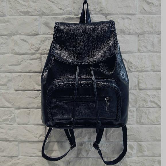 Модный женский рюкзак с косичками