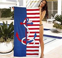 Пляжное полотенце 75*150 Морское