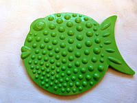 Рыбка ОРТО зеленая. Мини-коврики в ванную