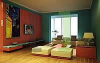 Дизайн-проект интерьера - гостиная комната модерн