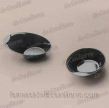 Тарелка черная «Bon-Bon Ovale» (9x7 см, h–2 см)