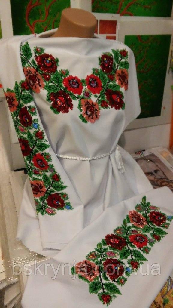 Заготовка Борщівської жіночої сорочки для вишивки нитками бісером БС-50(2) - d8be0c21ee7a5
