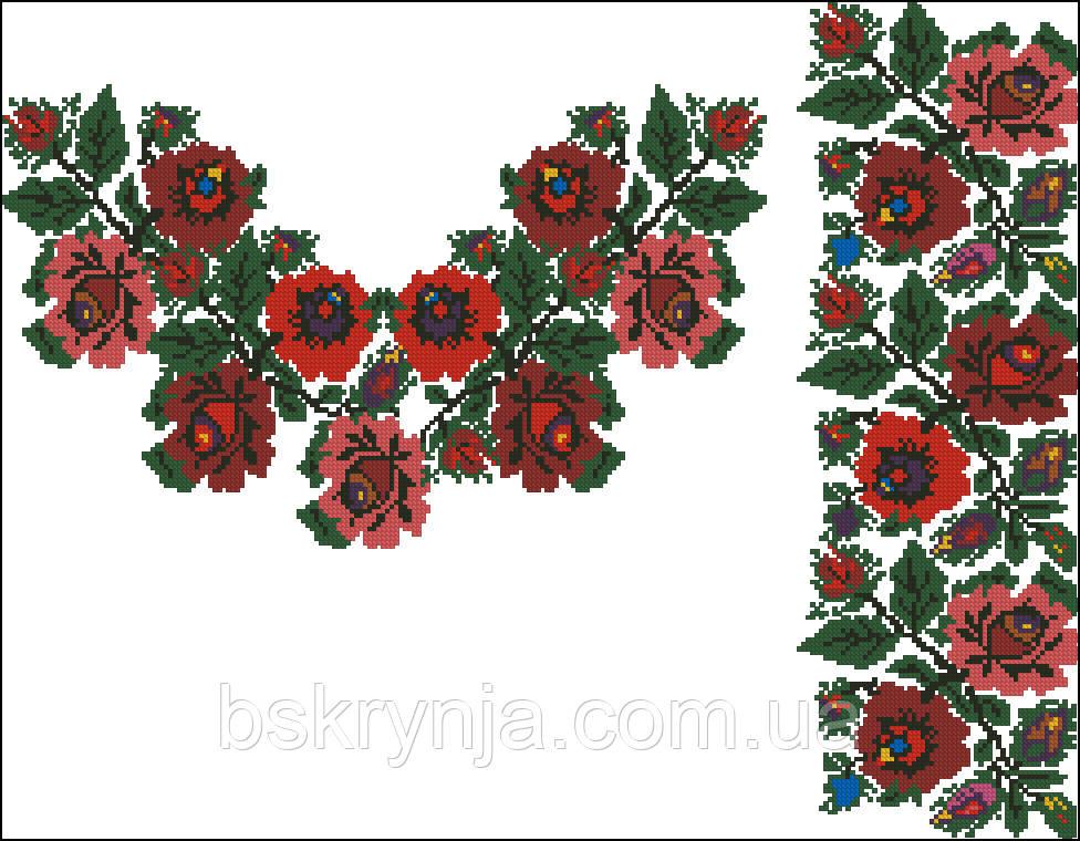 Заготовка Борщівської жіночої сорочки для вишивки нитками бісером БС-50(2) 526577f3e2685